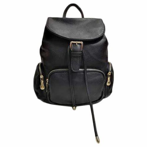 3ed9d74d881f Plain Ladies Black Backpack Bag