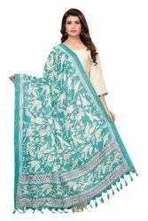 Khadi Cotton Silk Printed Dupatta