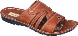 GC-PRINCE-1 PU Brown Gents Slipper