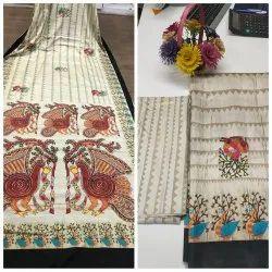 Mysore Silk Printed Chanderi Designer Saree, Saree Length: 6.30 Meter