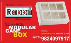 Rabbit White Moduler Open Gang Box