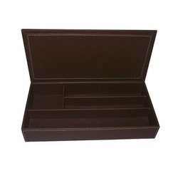 RS Leathers Brown Lether Stationary Box
