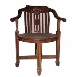 Zeneeze Decor Brown Wooden Chair