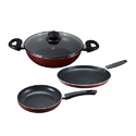 Milton Nova 3 Pcs Cookware Set, For Home, Hotel