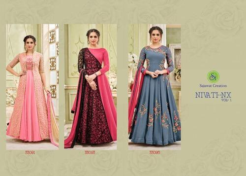 Georgette Designer Semi Stitched Suit Rs 1595 Piece Laxmi