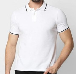 Half Sleeve Promotional Cotton Collar T Shirt