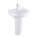 Arroz Ceramic Wash Basin With Pedestal For Bathroom