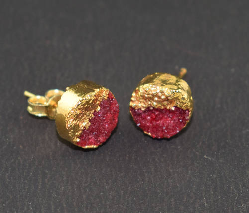 new stud buy jhumka design gold druzy detail earring product