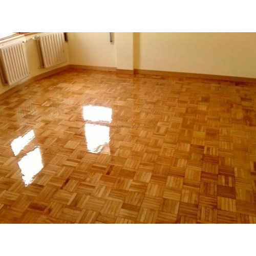 Epoxy Flooring Kerala: Brown Epoxy Wooden Flooring, For Indoor, Rs 125 /square
