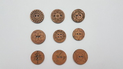 Natural Round Wood Button, For Garments