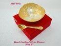 Bowl Golden Silver Flower 5