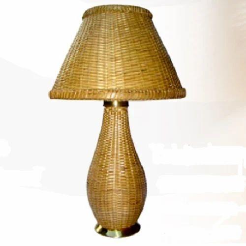 Bamboo Base Table Lamp