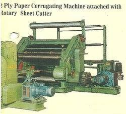 Ply Paper Corrugating Machine Attached With Rotary
