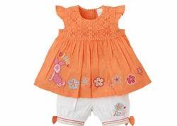 Baby Girls Orange And White Piglet Crochet Set