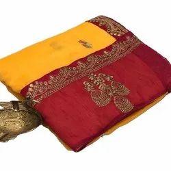 Pure Vichitra Work Silk Sarees