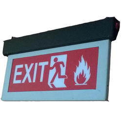 Exit Sign (Vinyl) with Battery Backup