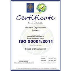 ISO 50001 Certification Consultancy Service