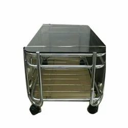 Stainless Steel Tea Table, Size: 15x24x16 Inch