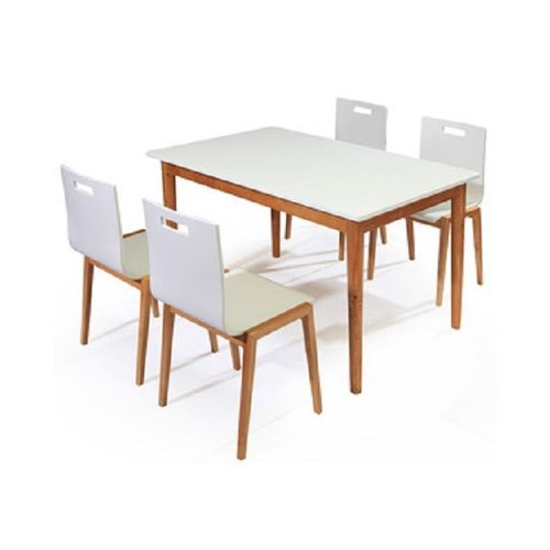 Neem Furnitech 4 Chairs And 1 Table Wooden Restaurant Table and Chair