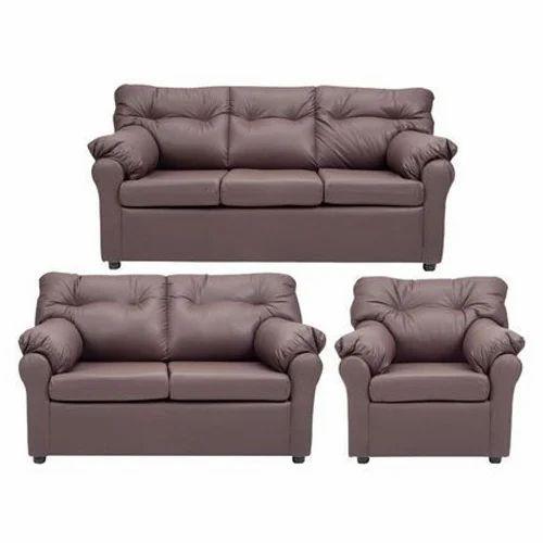 White Wooden 6 Seater Sofa Set