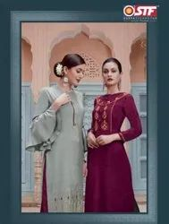New Festive Wear Rich Look Kurti with Bottom Collection
