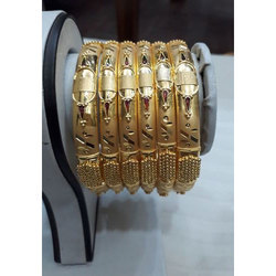 MPJ Festive Wear Fancy Golden Artificial Bangles