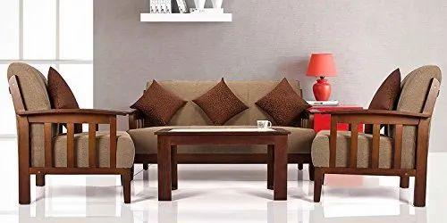Modern Teak Wood Sofa Set Rs 34000, Living Room Teak Wood Sofa Set Designs Pictures
