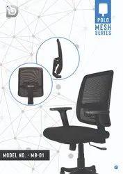 Diya Nylon-06 Polo Mesh Back Chair, Size: Standard