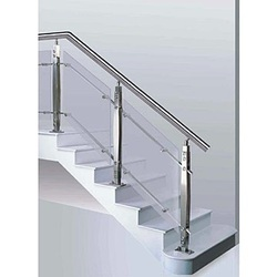 SS Modern Baluster Glass Handrail