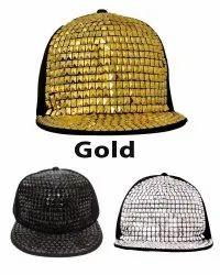 Hip Hop Gold Acrylic Cap