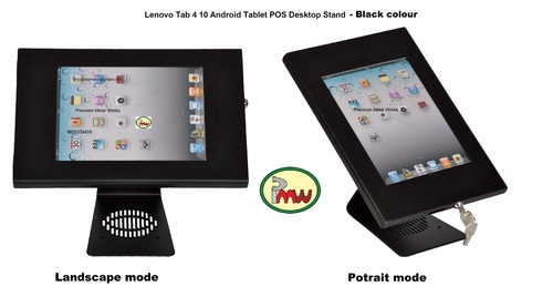 Desktop Anti Tamper Theft Stand Pos Lenovo Tab 4 10 Kiosk Tb 8504 Enclosure  Lock & Key