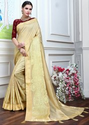 Beige Fancy Party Wear Saree
