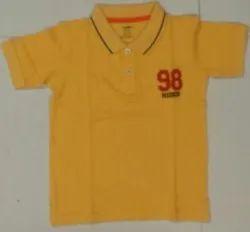 Cotton Kids Yellow Polo T Shirt