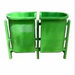 SS Powder Coated Duel Unit Dustbins