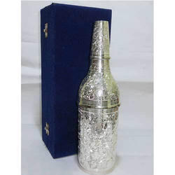 Silver Plated Wine Bottle