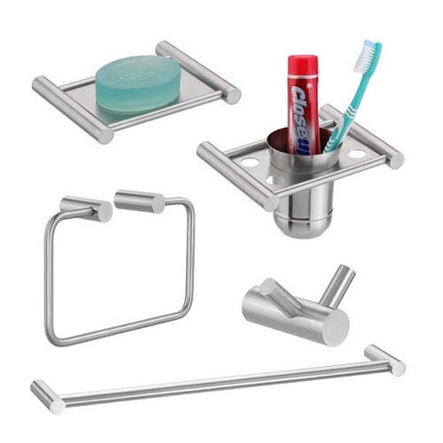 Stainless Steel 5 Pieces Bathroom Accessories Set