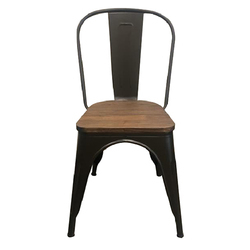 Moulded Cafeteria Chair - Tolex Wood