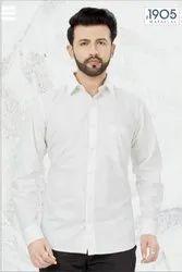 Mafatlal Premium Shirt (White Solid)