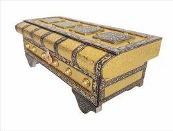 Royal Treasure Chest - Wooden Dry Fruit Box - Golden