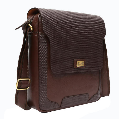 Cuzdan Tan Men Leatherette Sling Bag