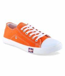 Feetzone Orange Canvas Shoes