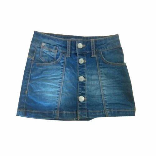 b2bd2dbc789b Blue Girls Denim Skirt, Rs 350 /piece, Sky Moon   ID: 15411492088