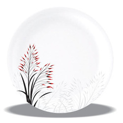 MELAMINE  SPORTY PLATE RED BLOOM