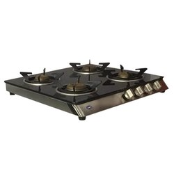 Black 4 Burner Stainless Steel Gas Stoves