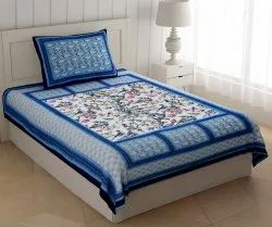 Marbal Single Cotton Bed Sheet with Pillow Cover