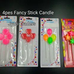 Multicolor Wax Decorative Birthday Candles