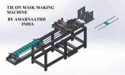 Tie On Face Mask Making Machine By Amarnaathh India