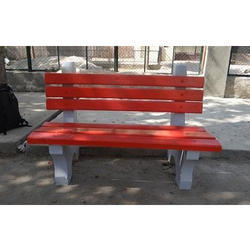 Precast Concrete Backrest Bench