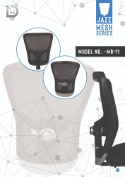 Diya Black Mesh Office Chair Parts, For Back Support, Size: Medium