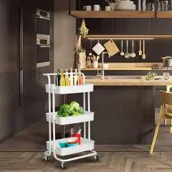 Ciplaplast Mild Steel Kitchen Trolley Rack, For Kitchen&bathroom